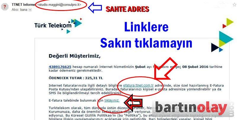 Türk Telekom sahte fatura